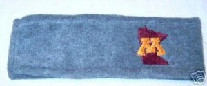 Minnesota Golden Gophers Grey Fleece Headband NWT
