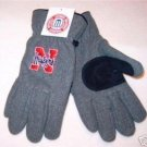 Officially Licensed NCAA Nebraska Huskers Mens Grey Lined Fleece Gloves Medium
