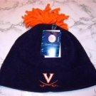 Officially Licensed NCAA Virginia Cavaliers Navy Fleece Tassel Skull Cap NWT