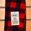 NWT Mens Buffalo Plaid Arctic Fleece Socks Small