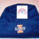 Officially Licensed NCAA Illinois Fighting Illini Blue Fleece Cuff Cap NWT