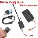 15CM Long Lens DIY Mini Camera-- 4000mAh Battery,Motion detect,Remote Control(MINI-04)