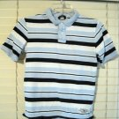 Cherokee Boys Polo Style Shirt Size Small S 6-7 White/Navy/Light Blue