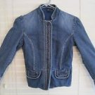 Vintage 1990's GAP Denim Blue Bolero Collar Mandarin Style Jacket Size 0