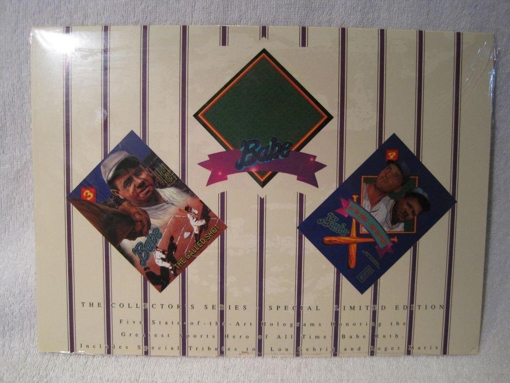 New Sealed Hologram Set Babe Ruth Lou Gehrig Roger Maris Yankees 1992