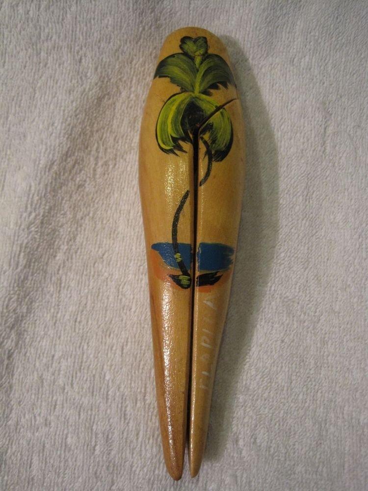 Vintage Souvenir Ladies Legs Nutcracker Florida Wood Novelty Nut Cracker