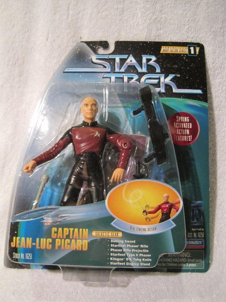 "Star Trek Picard 6"" Warp Factor Series 1997 Spring Activated Galactic Gear"