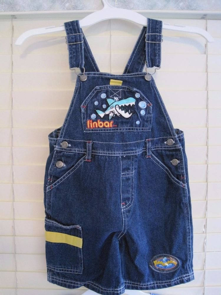 FINBAR SHARK Toddler/Boys/Girls Overalls 4T Rubbadubbers Nick Jr UK