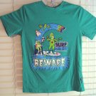 Boys Green SHAUN WHITE Surf Monster on Skateboard T-Shirt Tee Large L
