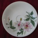 Yamaka China Pink Hibiscus Occupied Japan Plate Dish Saucer