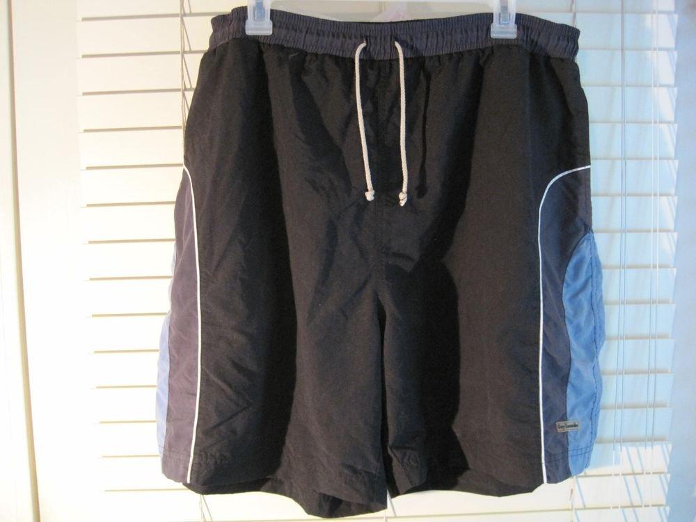 Mens Guy Laroche Paris Active Navy Blue Swim Trunks Board Shorts M 30-32