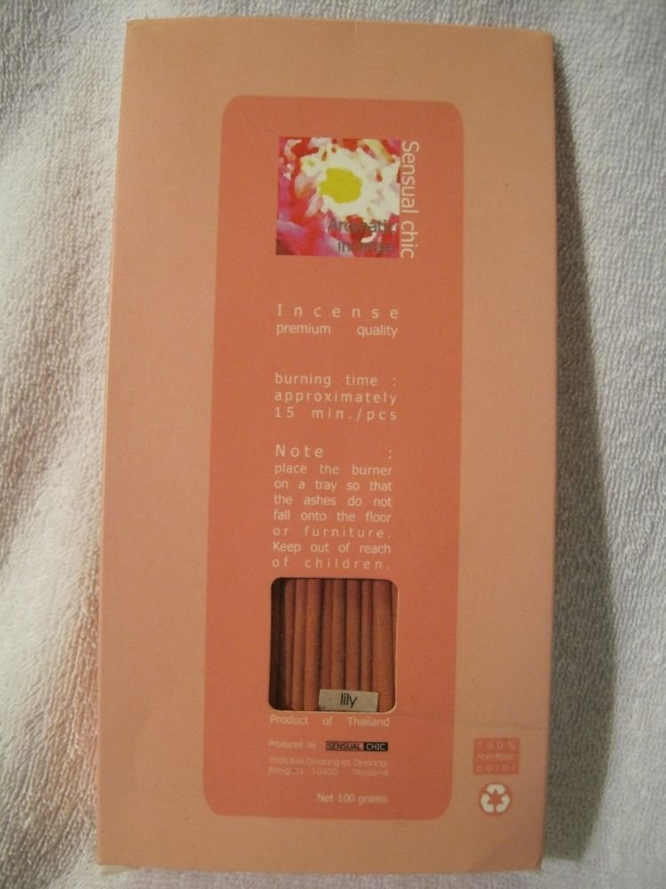"Thai Lily 5"" Inch Bulk Incense Sticks (160) Fragrance 100 grams USA Seller"