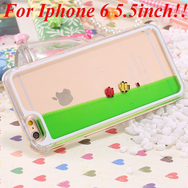 I6/6 Plus Dynamic Flowing Liquid Fish Clear Case For Iphone 6 4.7I 32277567848-6-green for plus