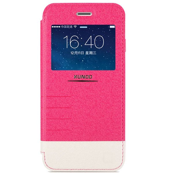 I6 Flip Pu Leather Window Cover For Iphone 6 4.7Inch Cell Phone Ca 32216246716-4-hot pink