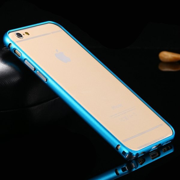 I6 Metal Frame Aluminum Case For Iphone 6 4.7Inch Slim Protective  32213754716-6-sky blue
