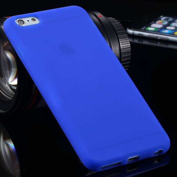 Ultra Soft Silicone Cover For Iphone 6 Plus 5.5Inch Back Phone Cas 2053450499-6-deep blue