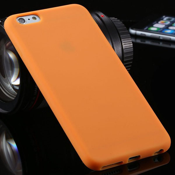 Ultra Soft Silicone Cover For Iphone 6 Plus 5.5Inch Back Phone Cas 2053450499-8-orange