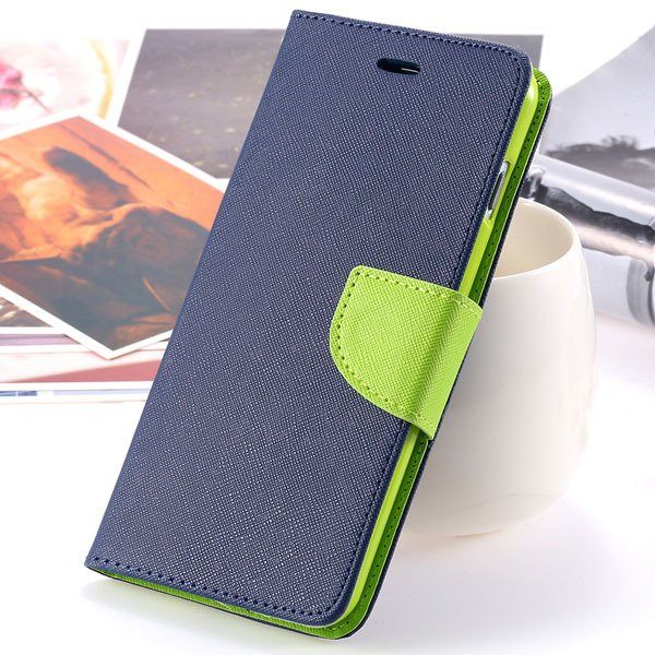 New Pu Leather Full Cover For Iphone 6 4.7 Inch Flip Phone Housing 2052907542-9-deep blue