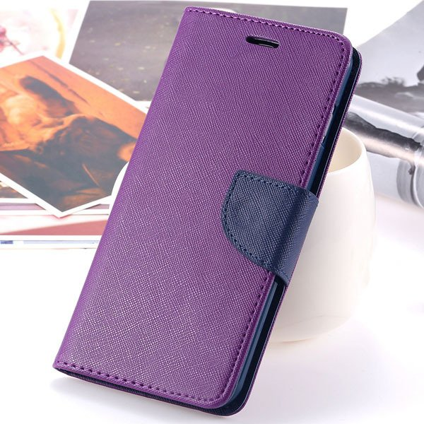 New Pu Leather Full Cover For Iphone 6 4.7 Inch Flip Phone Housing 2052907542-10-purple