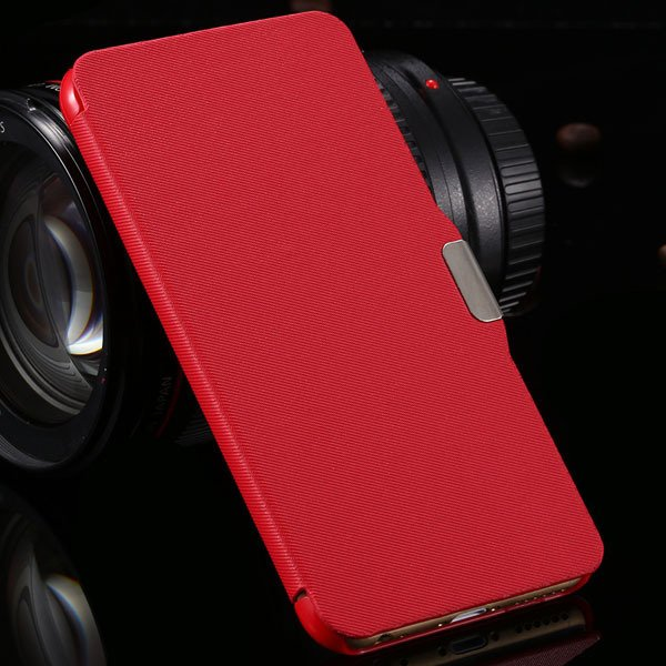 For Iphone 6 Plus Flip Wallet Phone Cover For Iphone 6 Plus 5.5''  2048384459-3-red