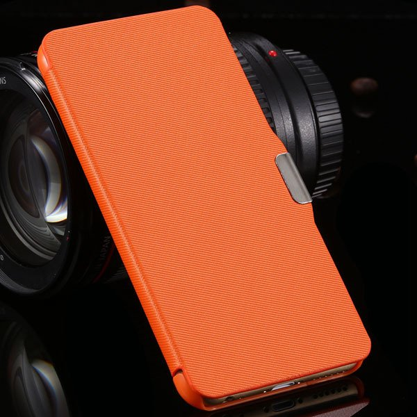 For Iphone 6 Plus Flip Wallet Phone Cover For Iphone 6 Plus 5.5''  2048384459-7-orange