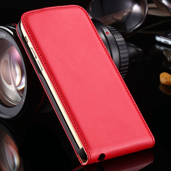 For Iphone 6 Flip Case Genuine Leather Cover For Iphone 6 4.7Inch  32221034920-3-red