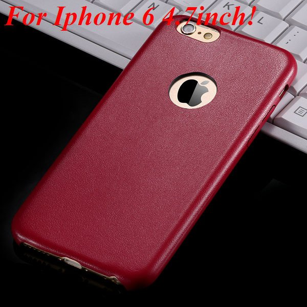 I6 Slim Case Original Ultra Thin Pu Leather Cover For Iphone 6 4.7 32261009616-5-red for iphone 6
