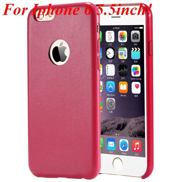 I6 Slim Case Original Ultra Thin Pu Leather Cover For Iphone 6 4.7 32261009616-12-red for plus