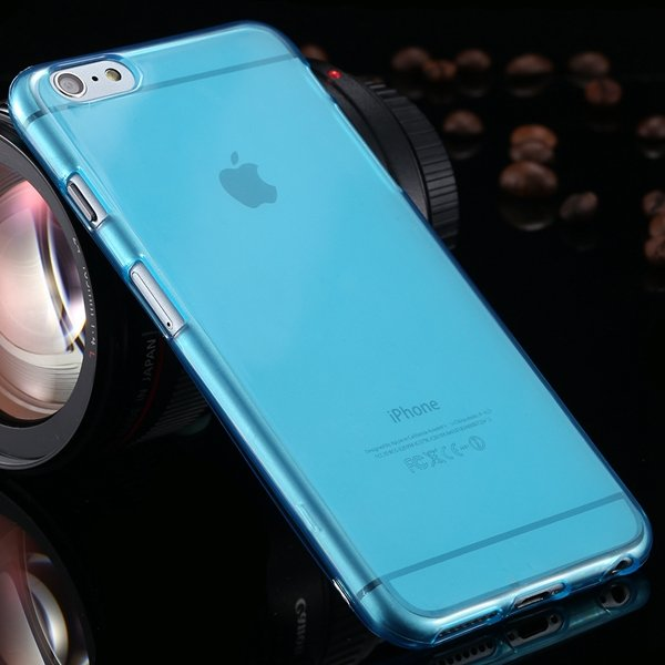 Newest Full Protect Flip Open Transparent Case For Iphone 6 Plus 5 2053095096-7-light blue