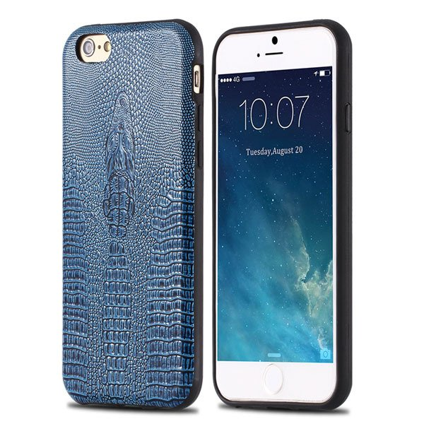 High-End Pu Leather Back Cover For Iphone 6 4.7Inch Cell Phone Bag 32237504954-1-blue