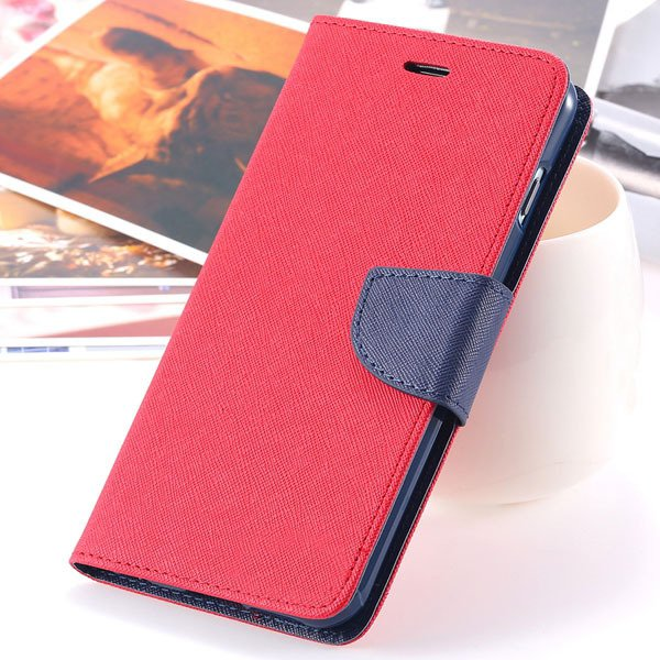 Flip Cover For Iphone 6 Plus 5.5'' Phone Housing Bag Full Protecti 2052387415-5-red