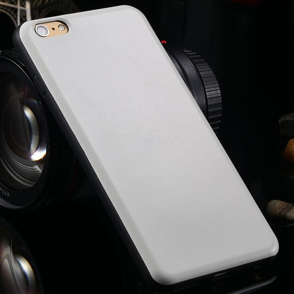 For Iphone 6 Plus Flexible Pu Leather Soft Cover For Iphone 6 Plus 2046848654-2-white