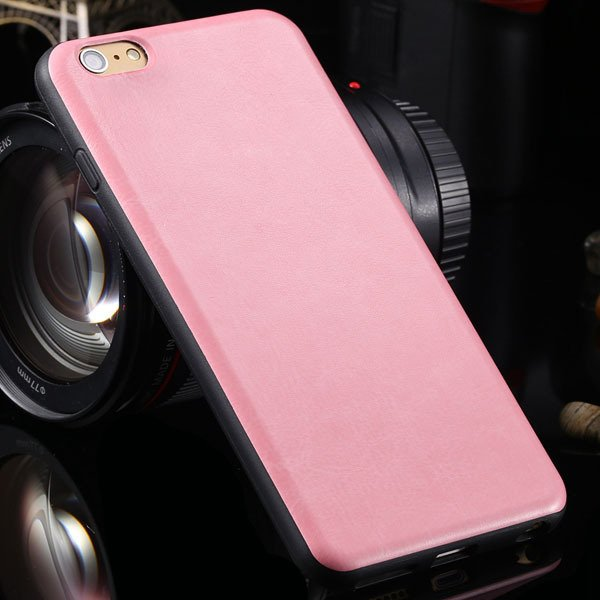 For Iphone 6 Plus Flexible Pu Leather Soft Cover For Iphone 6 Plus 2046848654-5-pink