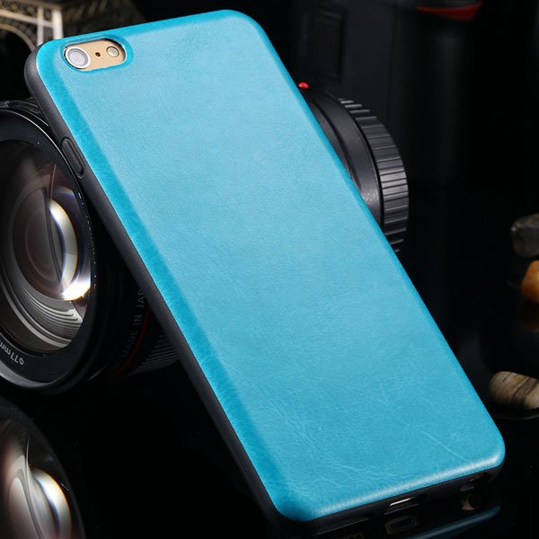 For Iphone 6 Plus Flexible Pu Leather Soft Cover For Iphone 6 Plus 2046848654-6-blue