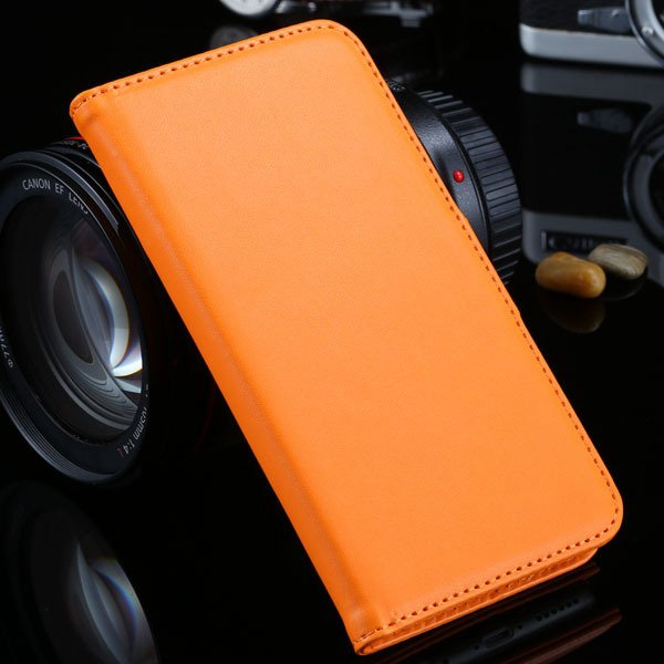 I6 Plus Wallet Book Case Pu Leather Cover For Iphone 6 Plus 5.5Inc 32213815412-2-orange