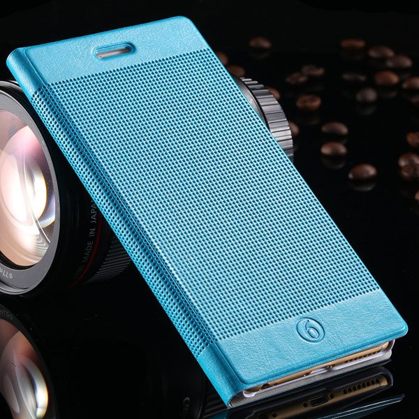 I6 Plus Pu Leather Case For Iphone 6 Plus 5.5Inch Full Protect Cov 32214482793-7-light blue