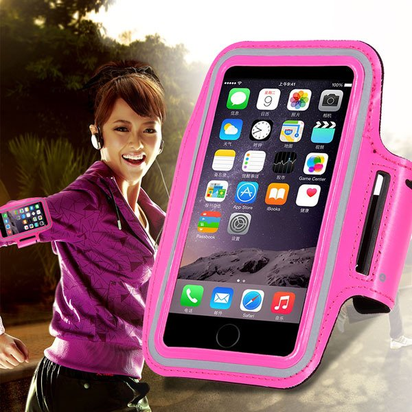 Hot Pink Sport Armband For Iphone 6 4.7'' Case Outdoor Running Wal 32238154351-1-
