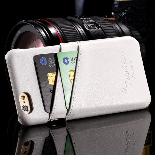 I6 Genuine Leather Case For Iphone 6 4.7Inch Slim Back Cover With  2045625242-2-Back white