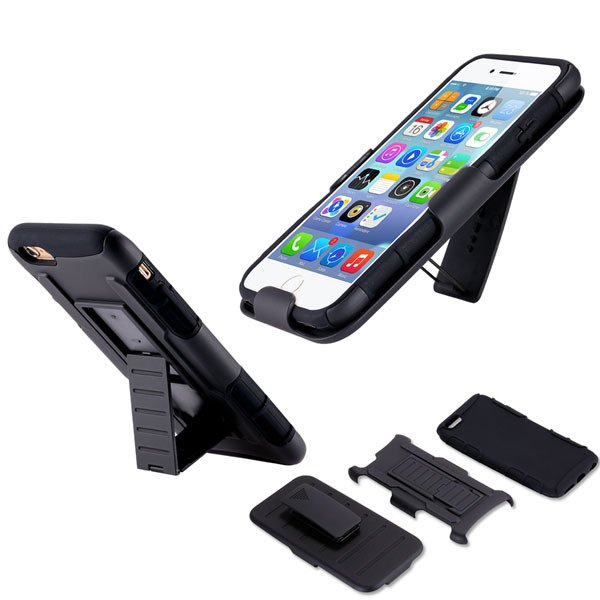 6+ Military Future Armor Case Combo Impact Holster For Iphone 6 Pl 32280874988-1-black
