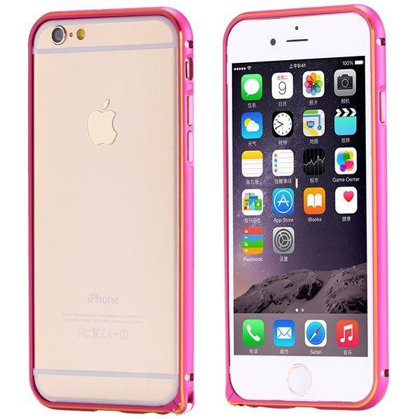 Ultra Thin Metal Frame Bumper For Iphone 6 4.7Inch Slim Bumper Gol 32247866213-4-hot pink