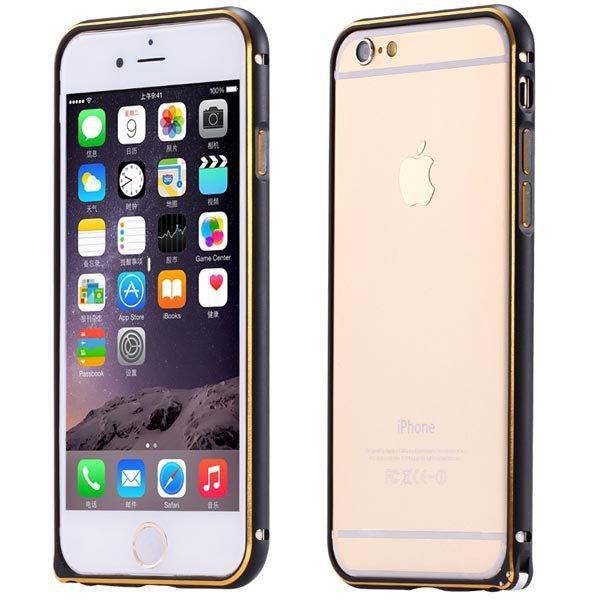 Ultra Thin Metal Frame Bumper For Iphone 6 4.7Inch Slim Bumper Gol 32247866213-6-black