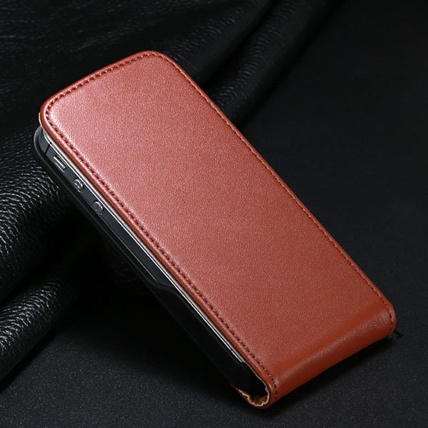 I6 Plus Genuine Leather Cover For Iphone 6 Plus 5.5Inch Flip Verti 32268114738-4-brown