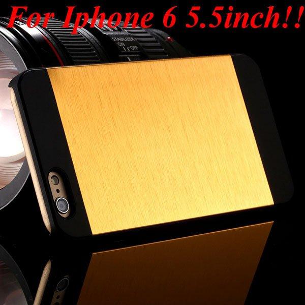 I6/6Plus Aluminum Shiny Metal Brush Hard Cover For Iphone 6 4.7Inc 32232320776-6-yellow for plus
