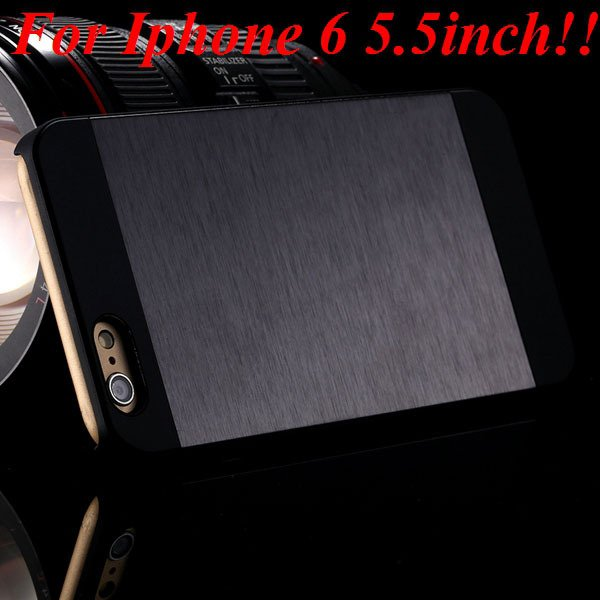 I6/6Plus Aluminum Shiny Metal Brush Hard Cover For Iphone 6 4.7Inc 32232320776-9-black for plus