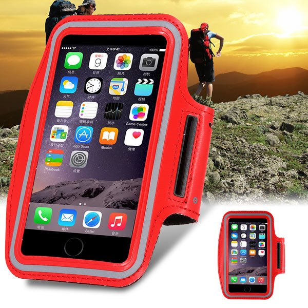 Amazing Red Phone Bag For Iphone 6 4.7'' Armband Sports Cell Phone 32238203804-1-
