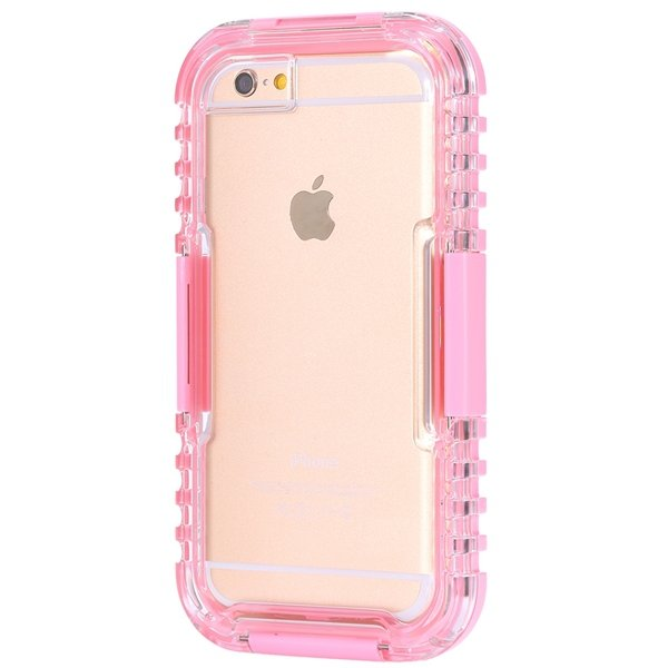 I6 Waterproof Case Surfing Swimming Underwater Clear Cover For Iph 32281108987-3-pink