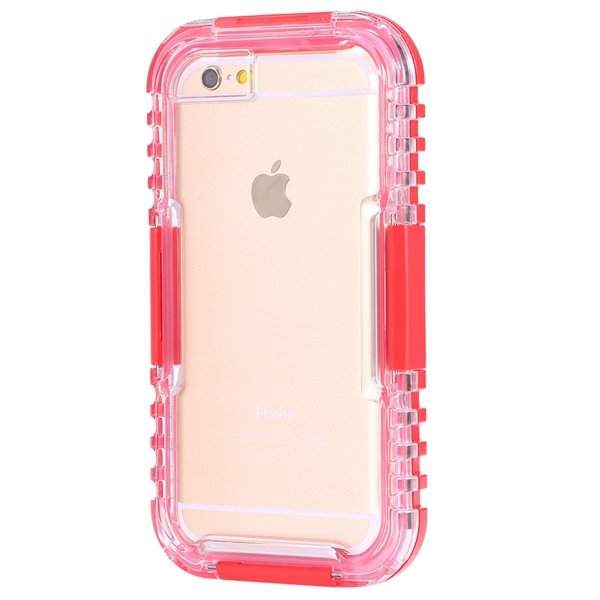 I6 Waterproof Case Surfing Swimming Underwater Clear Cover For Iph 32281108987-4-red