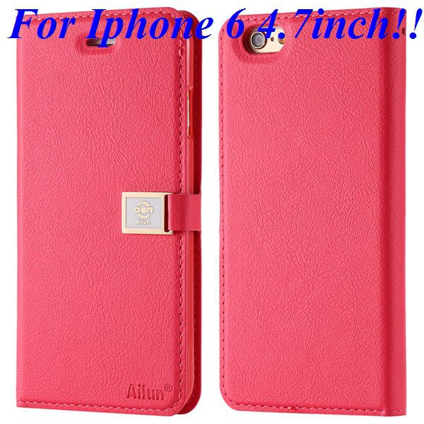 I6/6 Plus Premium Pu Leather Case Original Ailun Branded Full Cove 32229520892-6-rose for iphone 6