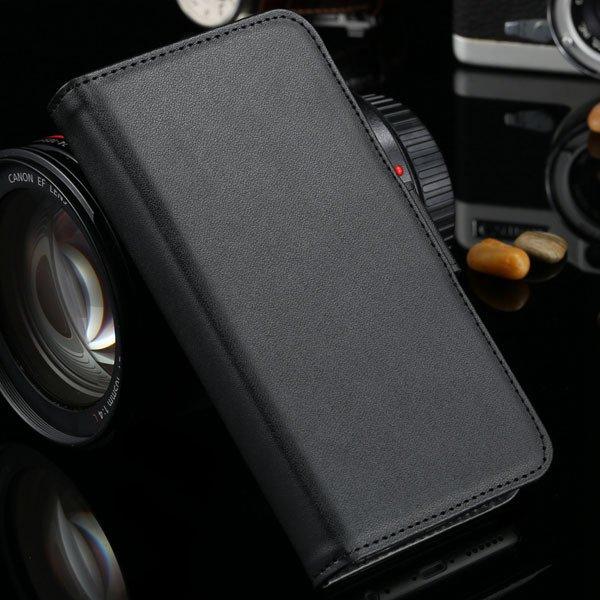 Classic Pu Leather Folded Cover For Iphone 6 4.7'' Case Plain Weav 2017128012-1-black