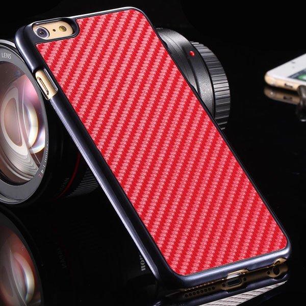 I6 Carbon Fiber Slim Hard Cover For Iphone 6 4.7Inch Back Case Wit 32251706070-2-red